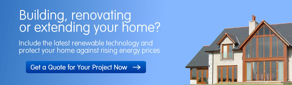 Find out a cost price for a renewable heating system for your self-build project by requesting a quote here.